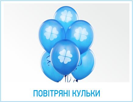 Повітряні кульки з логотипом